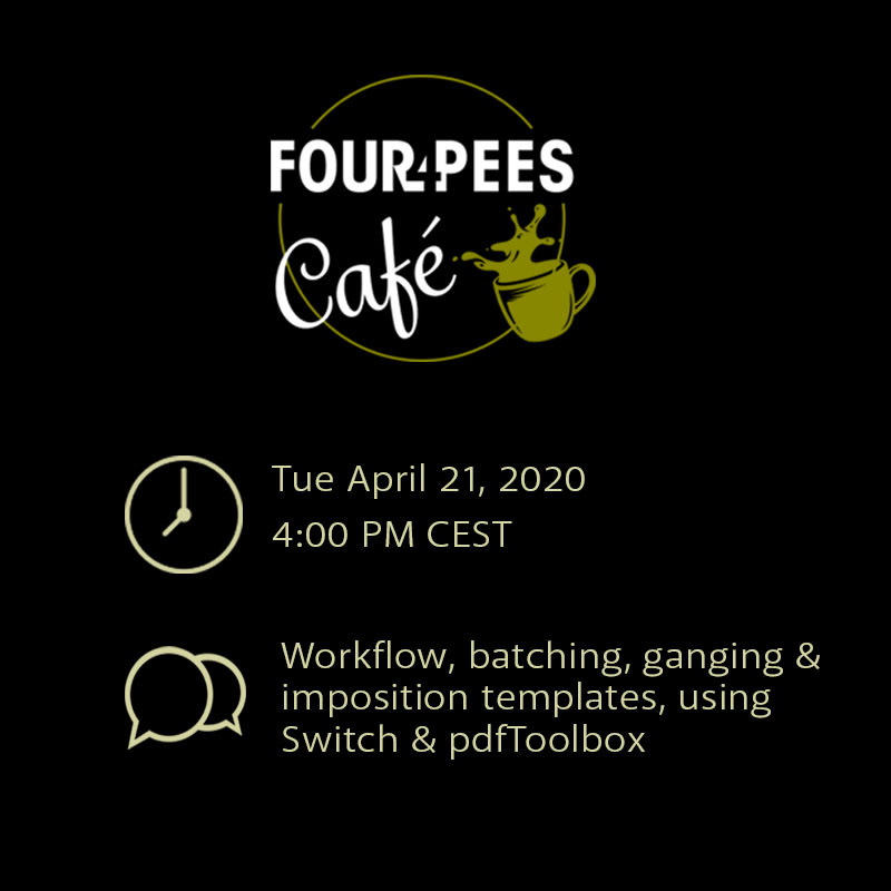 FourPees Café Batching and Ganging Impositions
